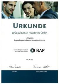 BAP Urkunde